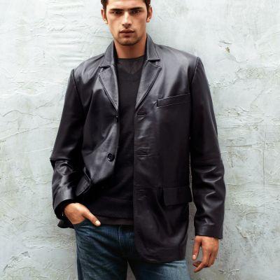 Модные мужские кожаные