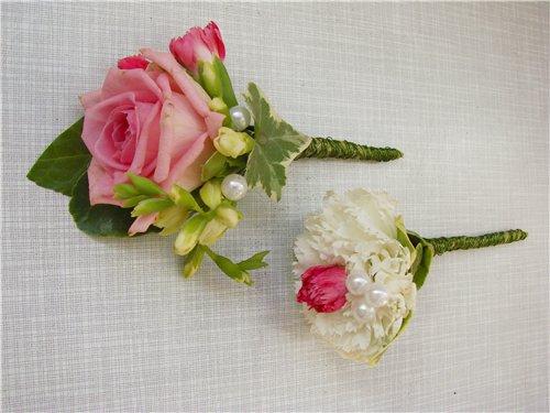 Бутоньерка для жениха своими руками из живых цветов