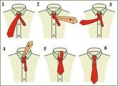как завязывать правильно узский галстук