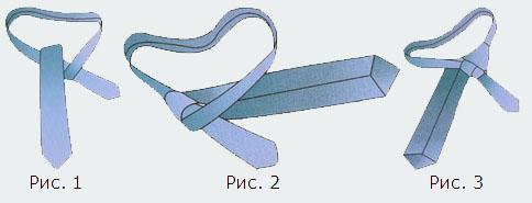 как завязывать галстук в картинках