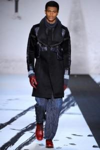 модное черное мужское пальто 2011 2012