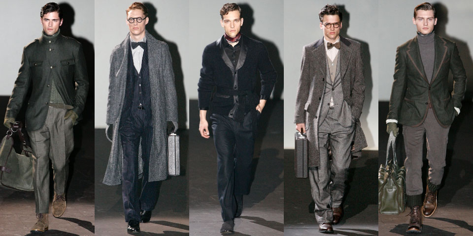 зимние тенденции 2012 для мужчин