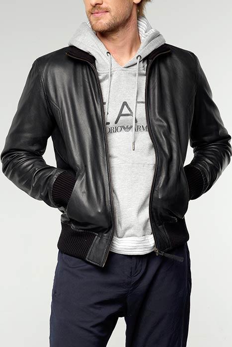 Модные куртки кожаные мужские для