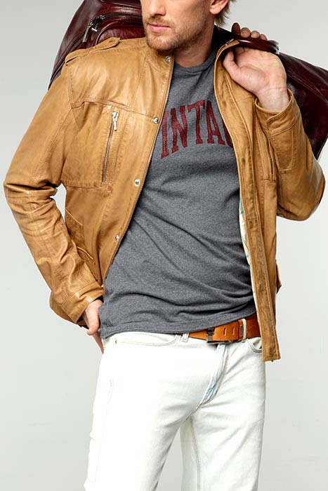 кожаная куртка мужская короткая.