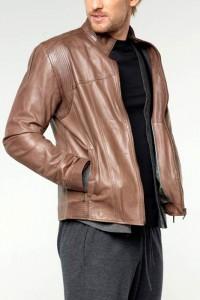 мужской кожаный укороченный жакет 2012