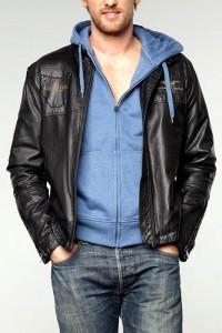 осенняя кожаная мужская куртка фотки