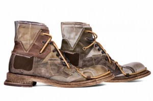 кожаные винтажные ботинки с чем носить
