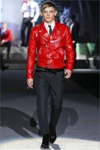 весенняя кожаная куртка красный цвет тренд сезона 2012