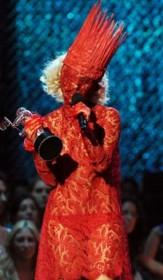 костюм из мяса от Леди Гаги