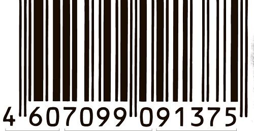 товаров таблица штрих коды