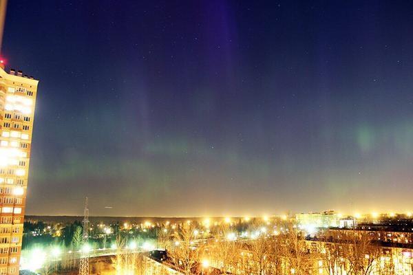 Полярное северное сияние фото